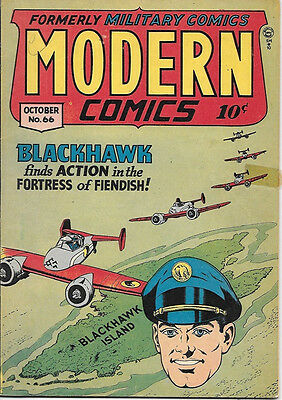 Modern Comics Comic Book #66, Quality Comics 1947 VERY GOOD+