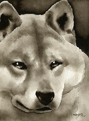 SHIBA INU note cards by watercolor artist DJ Rogers