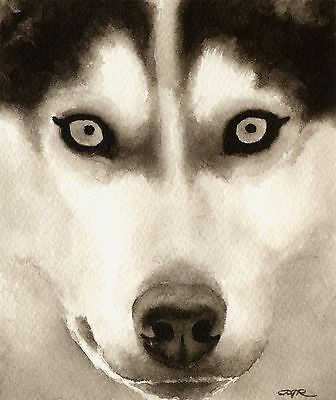 SIBERIAN HUSKY note cards by watercolor artist DJ Rogers