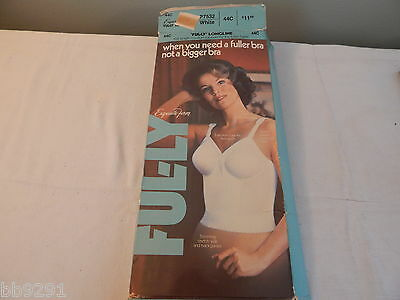 NOS Womens Exquisite Form Fully Longline White 44C Bra P7532
