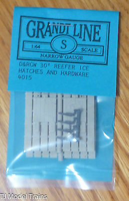 Grandt Line Sn3 #4015 D&RGW 30' Reefer Ice Hatches & Ha (Sn3 Scale) Narrow Gauge