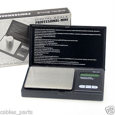 1000g x 0.1g Pocket Jewelry Gold Digital Scale Silver Professional scale US