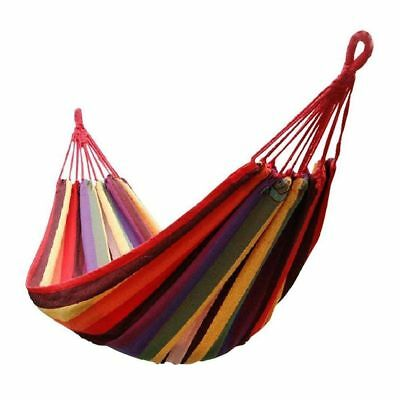 "New 68"" x 32""Canvas Garden pink Hammock Outdoor Camping Portable Beach Swing Bed"
