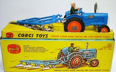 Corgi Gift Set No. 13 Fordson Power Major Tractor And Plough - Mint/boxed