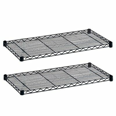 Industrial Wire Shelving, Extra Shelf Pack, 48 x 18in, Black