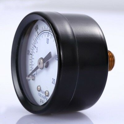 "1/8"" NPT Air Pressure Gauge 0-300 PSI Back Mount 1.5"" Face"