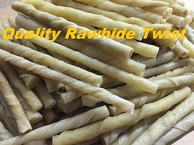 5''inch Rawhide Twist Natural Dog Chews Food Treat Various Size, 10Pc - 1000Pc
