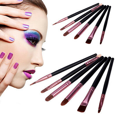 6 X Face Painting Brushes - Round And Flat Tip Art Paint Brush Glitter Quality