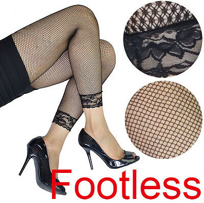 Lace Cuff Fishnet 80s 80's 70's 70s Party Costume Footless Legwear Leggings