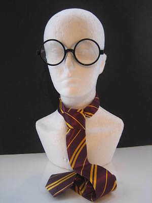 Harry Potter Tie **FREE GLASSES** Harry Potter Tie & Glasses Fancy Dress Hogwart