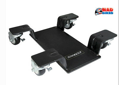 BIKETEK Delux Motorcycle Motorbike Centre Paddock Stand Mover, Garage Bike Dolly