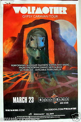 "WOLFMOTHER ""GYPSY CARAVAN TOUR"" 2016 SAN DIEGO CONCERT POSTER -Stoner Rock Music"