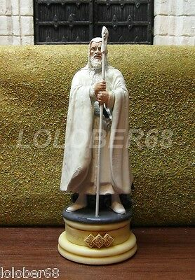 Gandalf The White - Lord Of The Rings Chess Figure - White Bishop - Eaglemoss