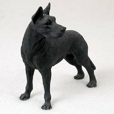 GREAT DANE Dog FIGURINE black cropped HANDPAINTED COLLECTIBLE Resin Statue puppy