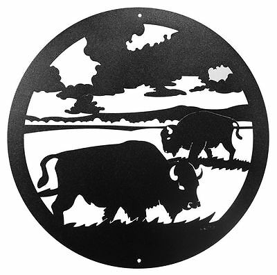 "SWEN Products BISON BUFFALO Steel 12"" Scenic Art Wall Design"