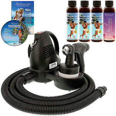 TURBO TAN KIT Sunless Airbrush SPRAY TANNING SYSTEM 4 Simple Tan DHA Solutions