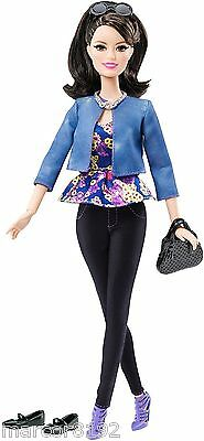 Barbie Style Doll Fashion Raquelle Flats to Heels 100+ Poses w/ Rooted Eyelashes