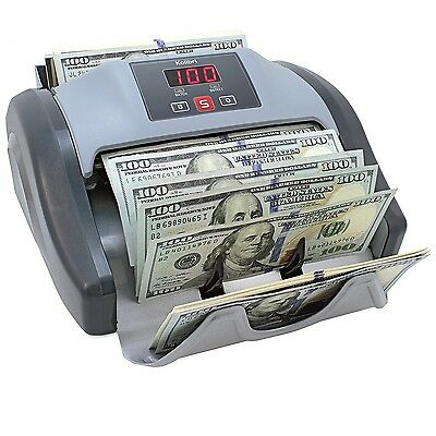 Kolibri Bill Counter w/UV, HLF, DBL, CHN Detection Counts 1000 Bills/min New