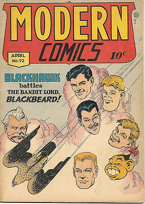 Modern Comics Comic Book #72, Quality Comics 1948 VERY GOOD