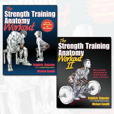 The Strength Training Anatomy Workout (Vol1-2 ) Collection 2 Books Set Pack NEW
