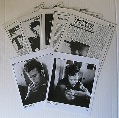 TOM WAITS Blue Valentne 1978 US Promo PRESS KIT Singer-Songwriter AMAZING!