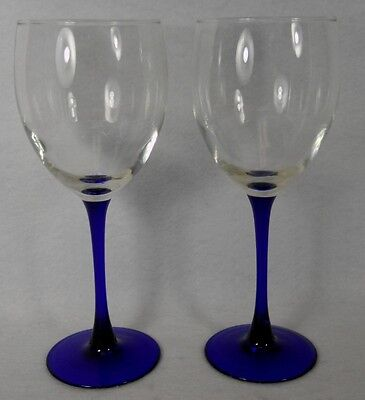 """CRISTAL d'ARQUES Durand crystal NEPTUNE pattern WATER GOBLET Set Two (2) 8-1/4"""""""
