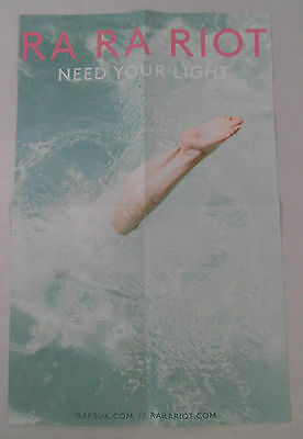 "RA RA Riot - Need Your Light 2 Sided Promo Posters * 11"" x 17"""