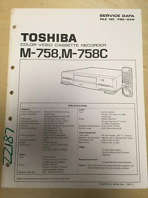 Toshiba Service Manual for the M-758 C VCR  mp