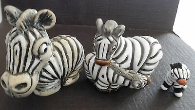 Vintage Wood Resin Ceramic Zebra Zoo Figurine Safari COAD Statue Collectible