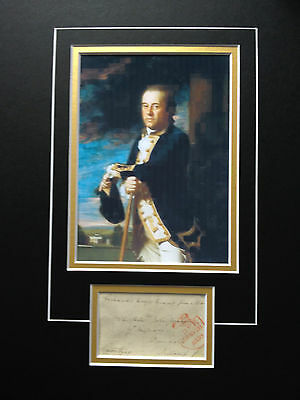 James Gambier - Distinguished Royal Naval Admiral - Signed Colour Photo Display