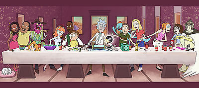 "Rick And Morty TV Animation Fabric Poster 32""x 13"" Decor 25"