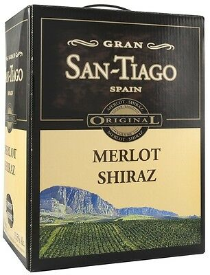 SAN TIAGO MERLOT SHIRAZ Bag in Box 5 Liter 13,5 % vol. SPAIN