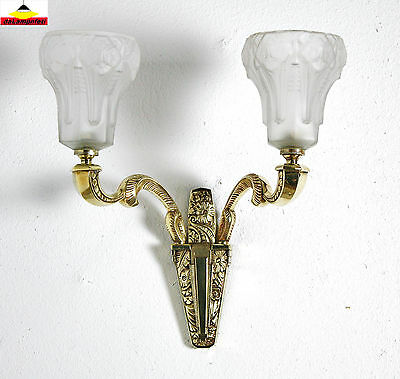 MULLER FRERES LUNEVILLE wonderful french Art Deco sconce wall lamp uplight