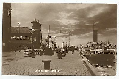 POSTCARD-SCOTLAND-GREENOCK-RP. Steamer at Princes Pier.