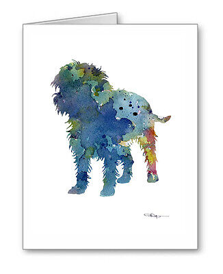 BLUE AFFENPINSCHER Note Cards With Envelopes