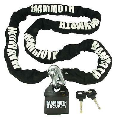 Mammoth Motorcycle Security Padlock Lock and 10 mm Square Section Chain 1.2m