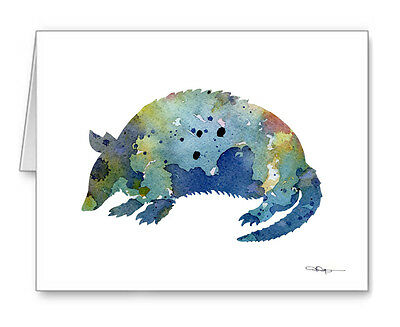 BLUE ARMADILLO Note Cards With Envelopes