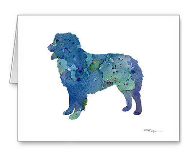 BLUE AUSTRALIAN SHEPHERD Note Cards With Envelopes