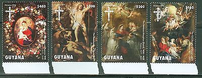 Guyana 2014 Christmas Set Of Four Religious Painting Stamps   Mint Nh