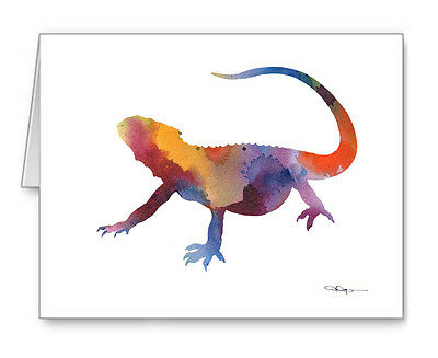 BEARDED DRAGON LIZARD Note Cards With Envelopes