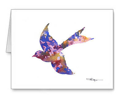 ABSTRACT BIRD Note Cards With Envelopes