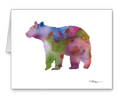 ABSTRACT BROWN BEAR Note Cards With Envelopes