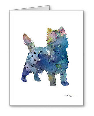 BLUE CAIRN TERRIER Note Cards With Envelopes