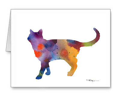 CAT WALKING Note Cards With Envelopes