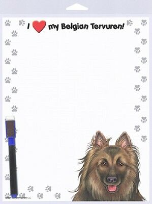 BELGIAN TERVUREN Dog ERASEABLE Magnet DRY ERASE NOTE Message List MEMO BOARD
