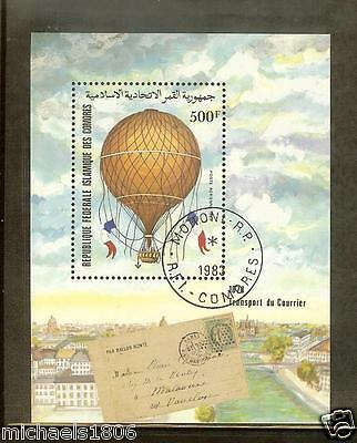 COMORO ISLANDS - COMORES -- 1983 - 200th. ANNIVERSARY / First Accent in Balloon