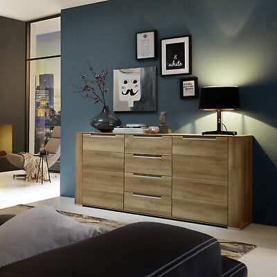 kommode 120 cm breit in sonoma eiche wei anrichte sideboard schrank m bel eur 99 95 picclick de. Black Bedroom Furniture Sets. Home Design Ideas