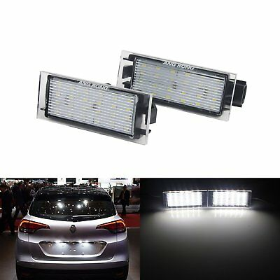 2X LED License Number Plate Light No Error Renault Clio Megane Twingo Laguna
