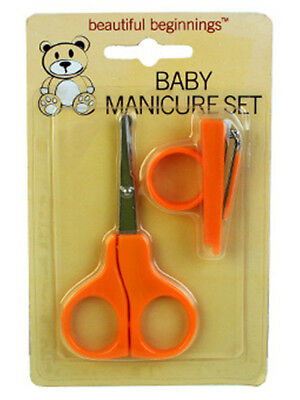 Baby Manicure Set Scissors Mini Nail Clippers Orange
