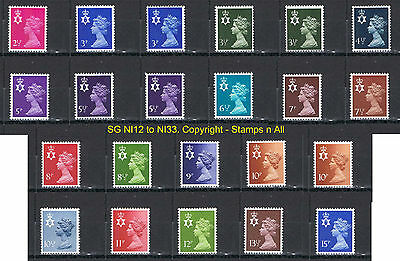 Northern Ireland Regional Stamps MNH SG NI12 to 33 DECIMAL Choose your stamps